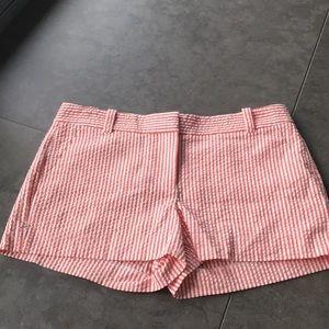 J Crew sear-sucker chino shorts.  Size 4. NWOT